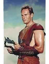 Charlton Heston in Ben-Hur iconic portrait holding crown 24x36 Poster