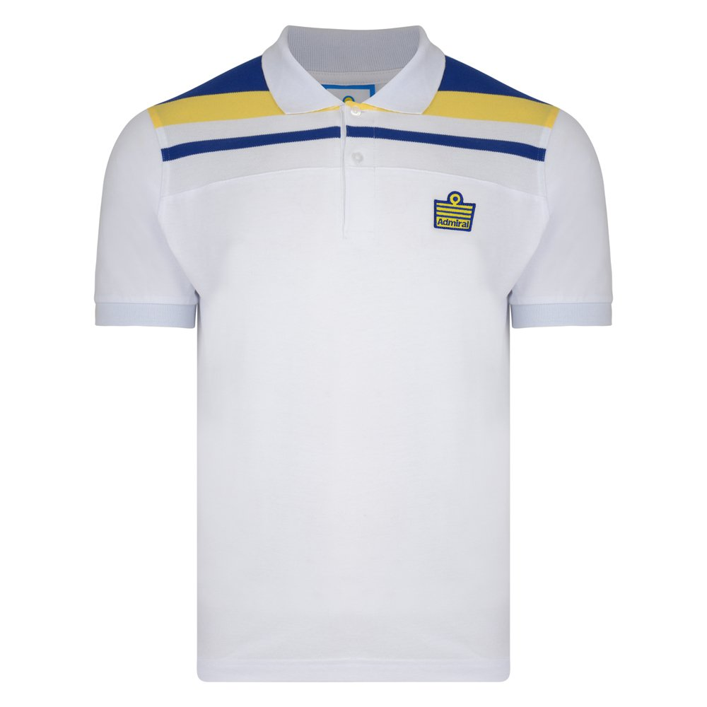 339d147d Leeds United F.C. Official Retro Admiral 1982 White Club Polo: Amazon.co.uk:  Sports & Outdoors