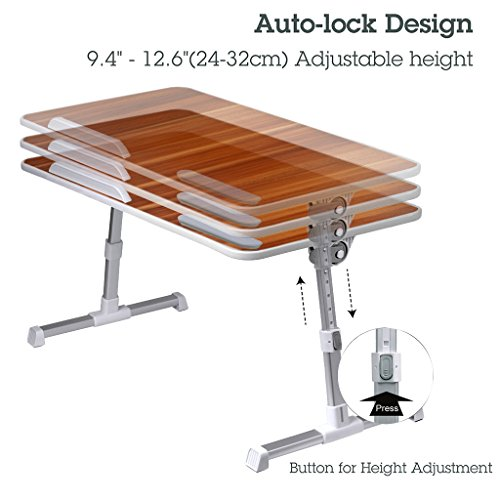 Avantree Large Size Adjustable Laptop Bed Table