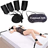 LzTech Handcuffs in Bed and Eye Shield Accessories for couple,R-ES-tra-ints K-its - and Touch Me with Your Smile, and What Can I Say to Make You Mine