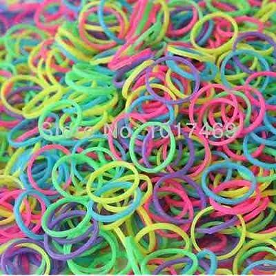 **accessoire discount** élastique loom band fluorescent enfant 200 pcs