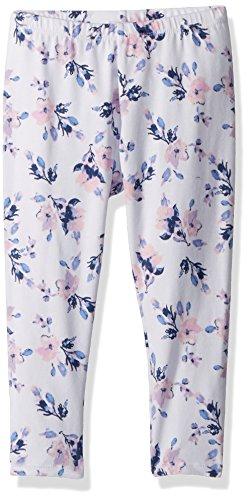 Splendid Girls' Toddler Floral Print Legging, Optic White, 2T