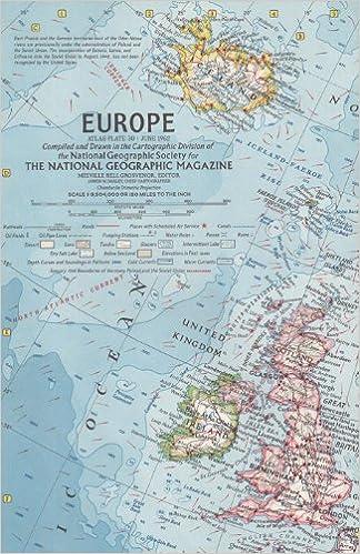 National Geographic Map Europe 1962 Amazon Com Books