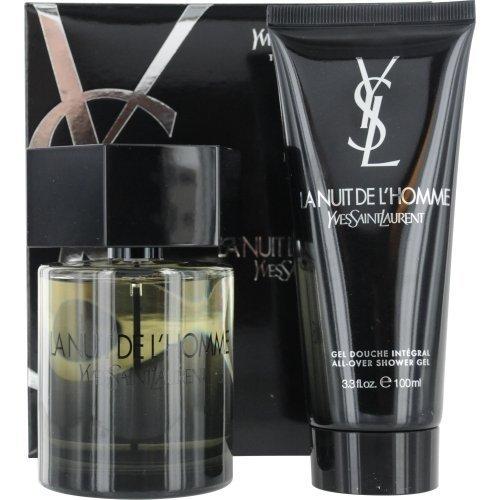(Yves Saint Laurent La Nuit De L'homme 2 Pc Travel Set Eau de Toilette Spray 3.4 ounce and All Over Shower Gel 3.3 ounce)