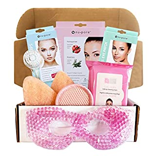 Facial Kit For Women - Includes Facial Mask, Facial Makeup Wipes, Nose Strips, Facial Cleansers, Facial (Rosemary and Pomegranate)