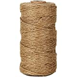KINGLAKE® 300 Feet Natural Jute Twine Best Arts Crafts Gift Twine Christmas Twine Industrial Packing Materials Durable String for Gardening Applications 1 PC