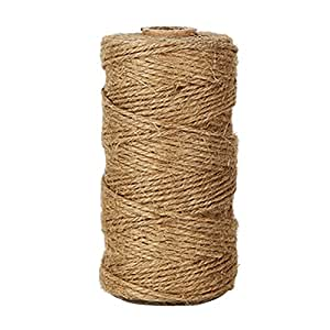 KINGLAKE 328 Feet Natural Jute Twine Best Arts Crafts Gift Twine Christmas Twine Industrial Packing Materials Durable String for Gardening Applications