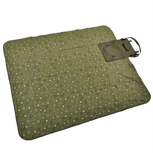 Confidence Picnic 100% Waterproof Blanket With Built-In Carry Handle/Bag Green