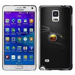 EJOY---Cubierta de la caja de protección la piel dura para el / Samsung Galaxy Note 4 / --Dragón tribal Mínimo