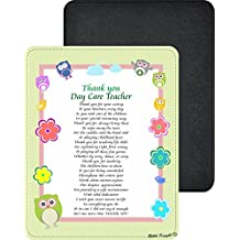 Rikki Knight Thank you Day Care Teacher Poem Design Premium Quality Faux Leather Mouse Pad