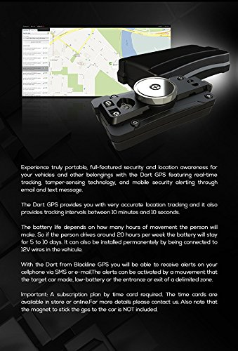 Amazon.com: Professional Grade Blackline Real Time GPS DART with 1 year Bronze Time Card Activation: Car Electronics