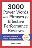 img - for 3000 Power Words and Phrases for Effective Performance Reviews: Ready-to-Use Language for Successful Employee Evaluations book / textbook / text book