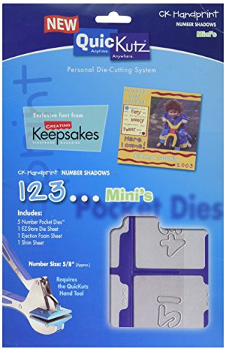 (QUICKUTZ We R Memory Keepers CK Handprint Mini Number Shadow Die Set, 2-Inch by 2-Inch)