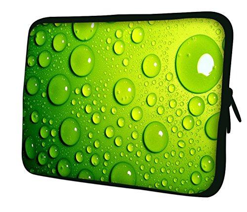 """10""""-17.6"""" Pulgadas Bolso con diseño, Funda en Neopreno para Ordenador Portátil. Muchos diseños y tamaños disponibles!! (Part 2 of 3) Verde con Borbujas"""