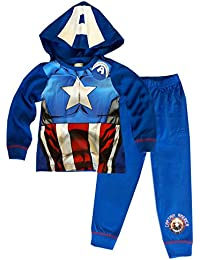 Boys Avengers The Hulk Capt America Novelty Pajamas Pj Age 2-8 Years