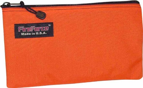 - Fire Force 12-1/2-Inch Cordura Ballistic Nylon Zipper Bag Made in USA (Orange)
