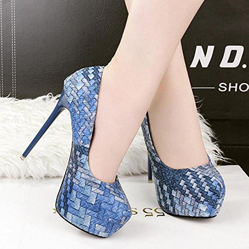 Dance Blue Shoes Will Single With 14cm High Chatter Women'S Color a Ultra Heels Table Be Spell Waterproof wf1FHqvS