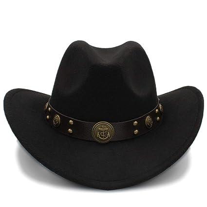 GR 100% Sombreros de Vaquero de Lana Sombreros de Fieltro Occidentales de  Invierno para Adultos b3a5178ef99