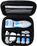 Foot Love Electric Rechargeable Pedicure Tool with 4 Rollers and Travel Case - Blue