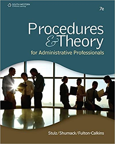 Amazon procedures theory for administrative professionals amazon procedures theory for administrative professionals 9781111575861 karin m stulz kellie a shumack patsy fulton calkins books fandeluxe Images