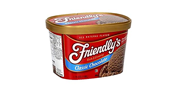 Friendlys, Premium Rich and Creamy Ice Cream, Classic Chocolate, 48 oz (Frozen): Amazon.com: Grocery & Gourmet Food