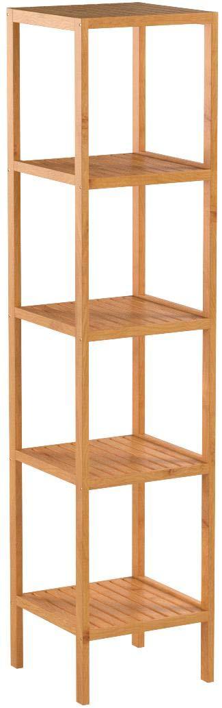 Homfa Bamboo Bathroom Shelf 5-Tier Tower Free