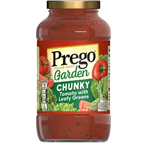 - Prego Garden Harvest Chunky Tomato With Leafy Greens Italian Sauce, 23.75 oz. (Pack of 6)