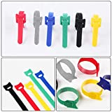 MOAMUN Reusable Cable Ties, 135pcs Adjustable Strap Hook and Loop for PC Computer Electronics Management and Wires Organization