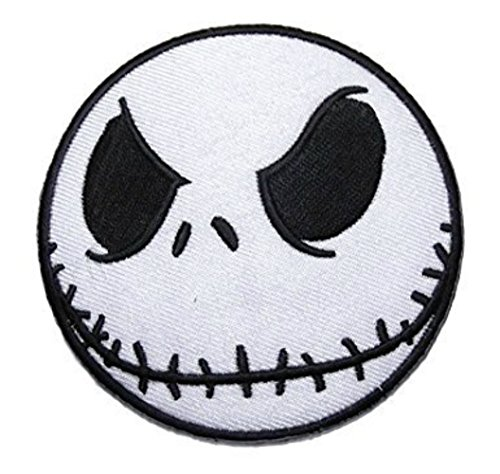 Jack Skellington 3 Inch Wide Nightmare Before Christmas Iron On -