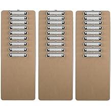 Fame Board Letter Size Clipboard Low Profile Clip Hardboard (Pack of 30)