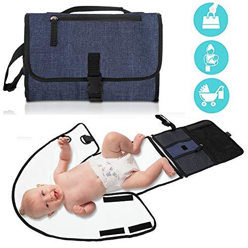 Baby Portable Changing Pad Toddler Travel Changing Station,PEVA Diaper Bag, Travel Changing Mat Station, Clean Hands Changing Pad Diaper Mat for Infants Newborn Boys & Girls