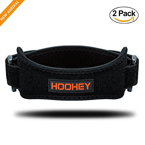 Knee Strap, HOOHEY Patella Knee Support Straps Knee Arthritis Brace And Pain Relief Stabilizer Strap for Running, Jumpers Knee, Tennis, Basketball, Tendonitis (1 Pair)