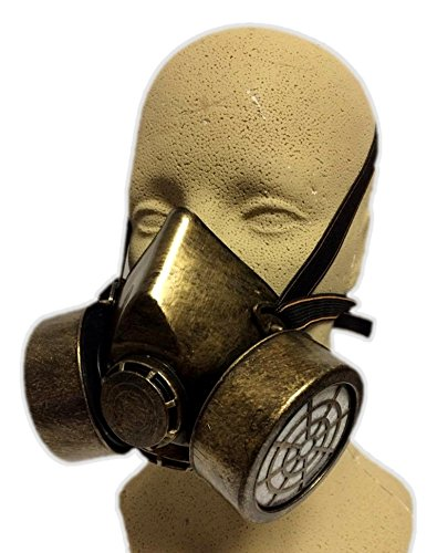 Gold Steampunk Gas Mask Adult Biohazard Respirator Cosplay Costume Accessory (Cosplay Steampunk Costumes)