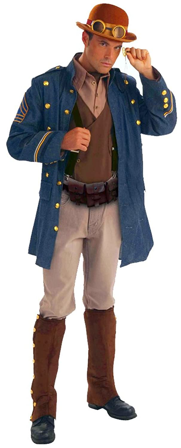 Steampunk General Adult Costume Blue Jacket