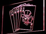 Royal Flush Casino Poker Game Gift LED Sign Night Light i942-r(c)