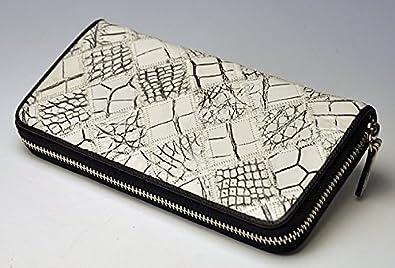 dfe27ddceb6c Amazon | ≪クロコダイル≫ ラウンドファスナー/パッチワーク長財布 [並行輸入品] | 財布