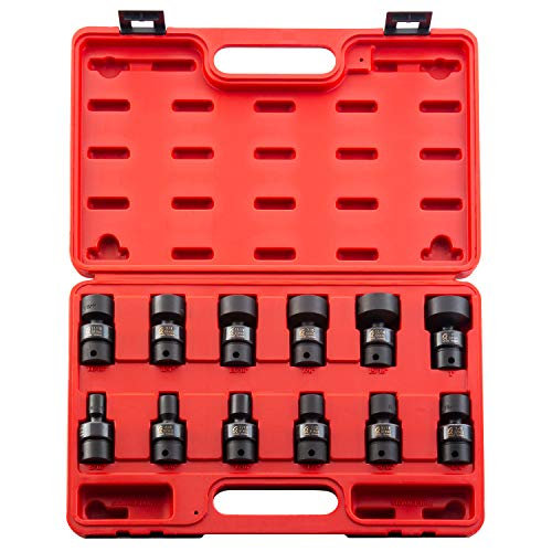 Sunex 3690, 3/8 Inch Drive Universal Impact Socket Set, 12-Point, 12-Piece, SAE, 5/16