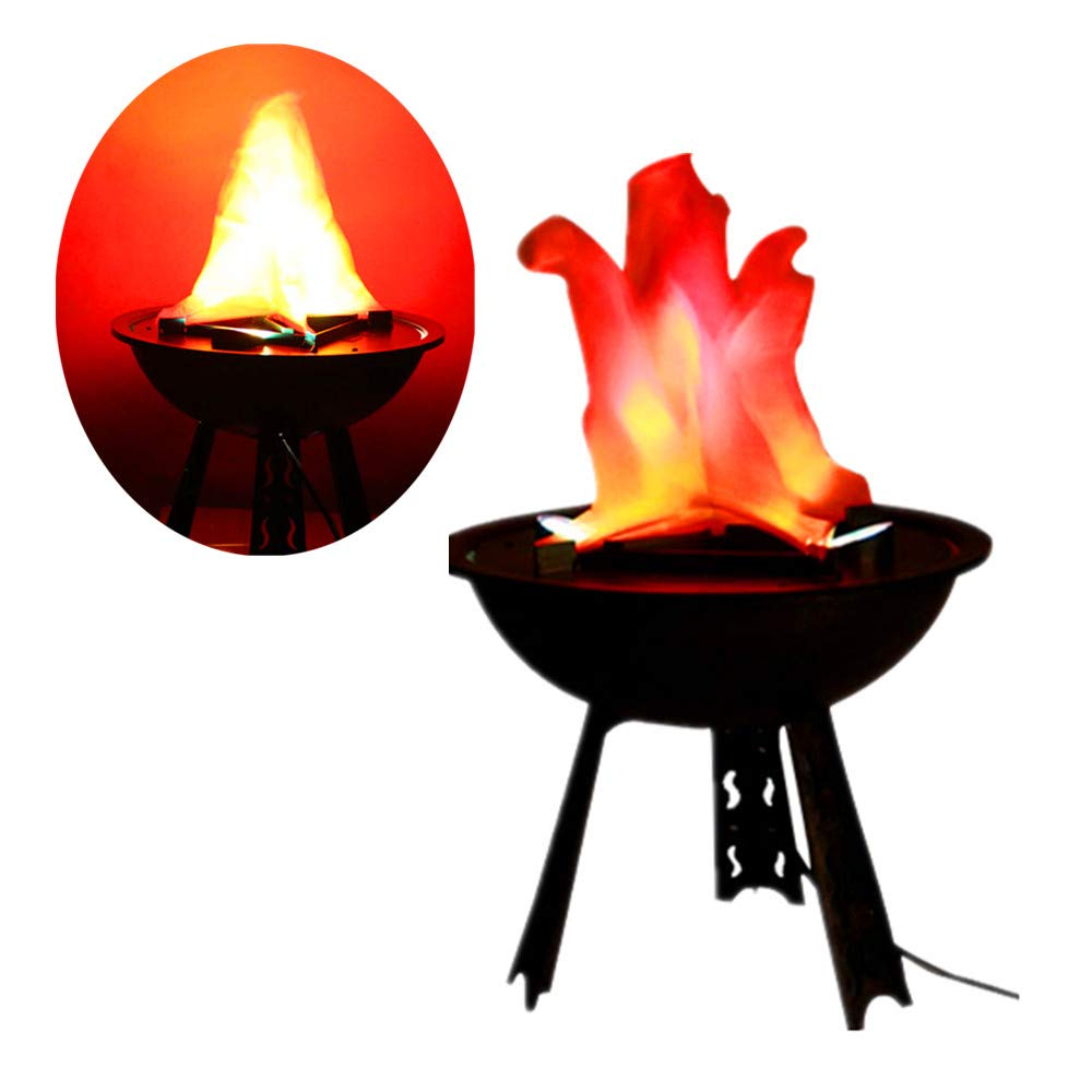 Hanging Flame Light Great Halloween Decoration, LED Fake Fire Flame Simulated Flame Effect Light 3D Campfire Centerpiece for Christmas Party Festival Night Clubs Atmosphere (Base Flame)