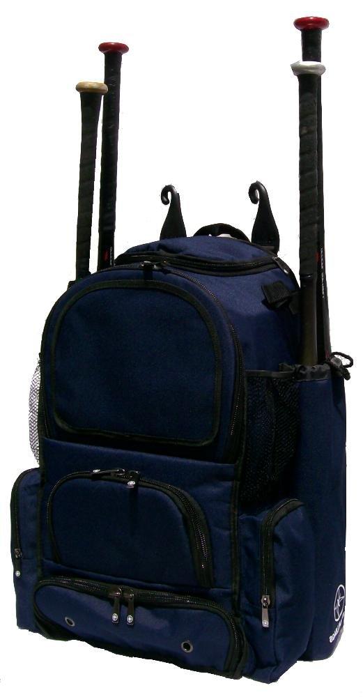 新しいデザインMedium Vista M in Navy Blue Teenソフトボール野球バット機器バックパックwith Removableバット袖と刺繍パッチ B00MLBQPJQ