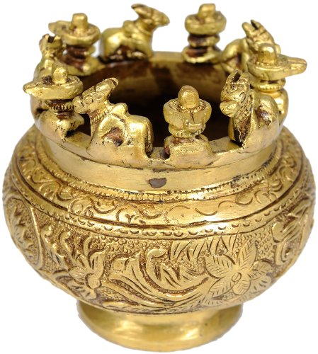 Incense-Burner-Shiva-Linga-and-Nandi-Brass-Statue