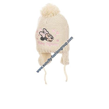 Gorro Peruano bebé niña Baby Minnie rosa y beige de 0 a 9 ...