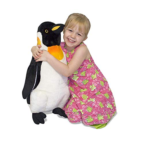 "Melissa & Doug Penguin Giant Stuffed Animal (Wildlife, Soft Fabric, Beautiful Penguin Markings, 23.5"" H x 17"" W x 9.8"" L, Great Gift for Girls and Boys - Best for 3, 4, 5 Year Olds and Up) from Melissa & Doug"