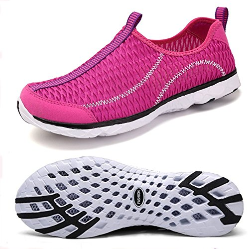Women's Water Shoes Mesh Quick Drying Aqua Lightweight Athletic Sport Outdoor Breathable Slip-on Shoes