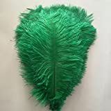 MELADY Pack of 500pcs Natural Ostrich Feathers 18-20inch(45~50cm) for Home Wedding Party Decoration (Dark-green)