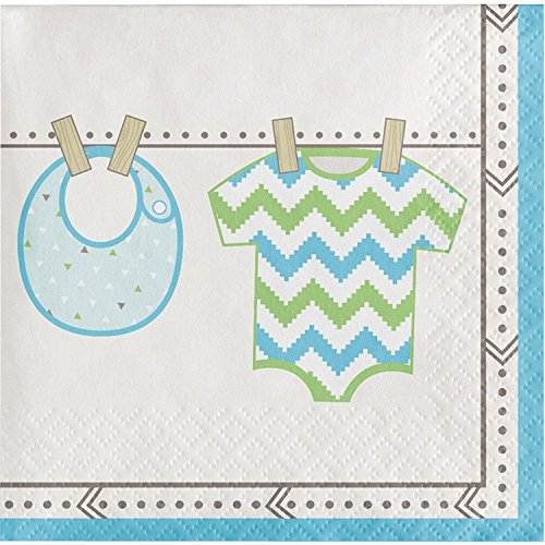 Club Pack of 192 Multicolored Bundle Joy Disposable Party Beverage Napkins 5'' by Party Central