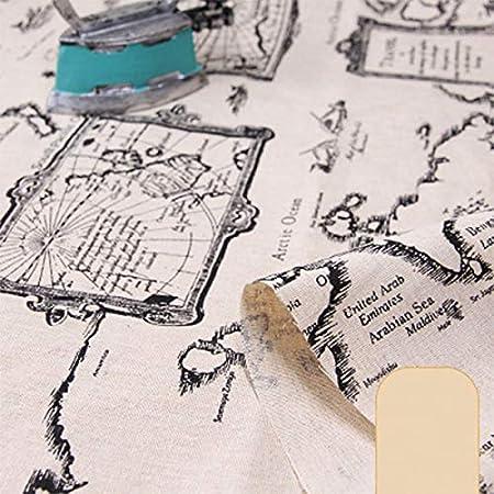 ONECHANCE Algodón de lino mezcla DIY tela Vintage patrón floral ...