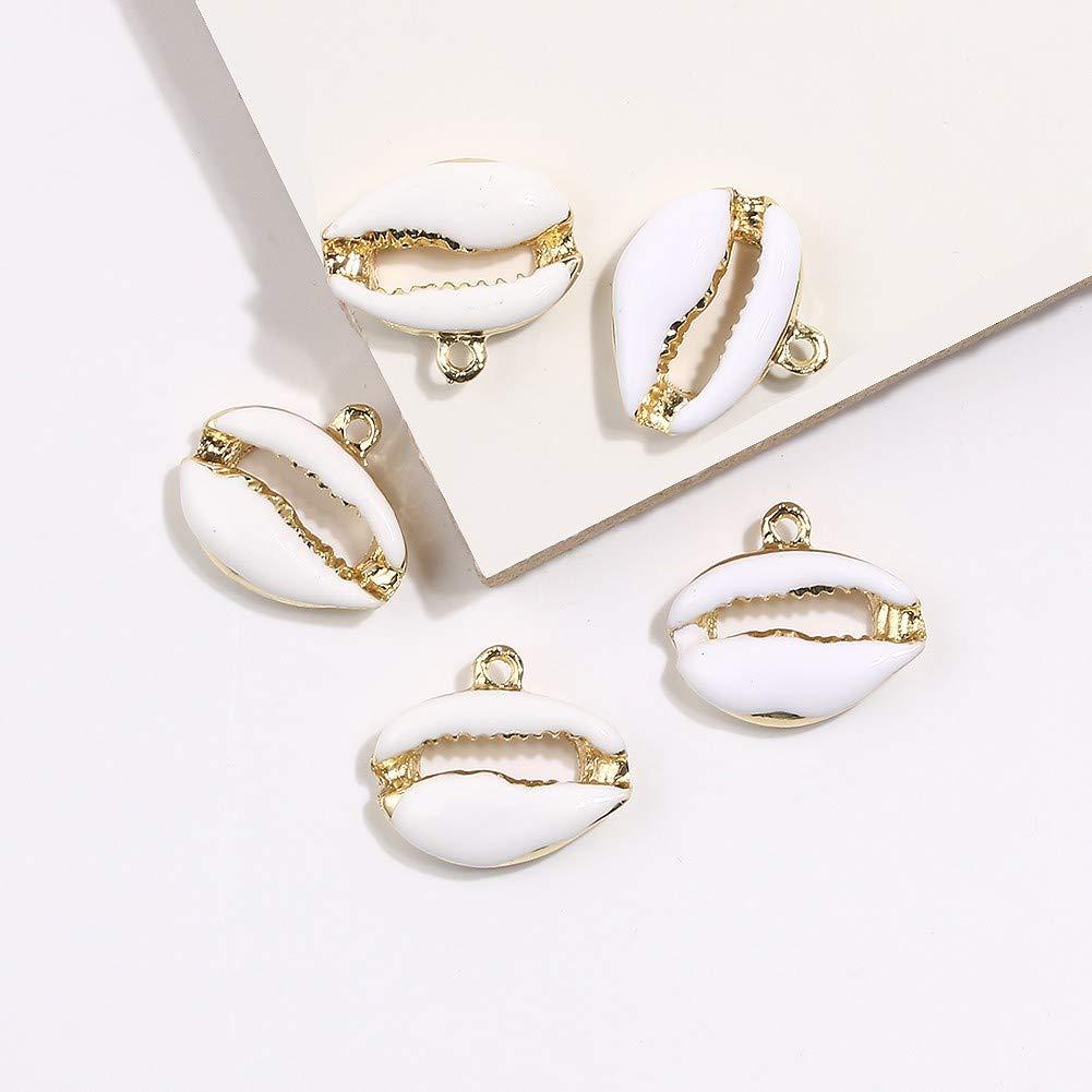 MOMBIY Boh/ème bricolage g/éom/étrique Shell pendentif collier boucles doreilles bijoux accessoires
