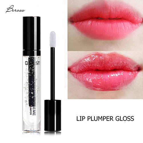 Beross Clear High Shine Lip Gloss all Natural with Best Texture, Contains Antioxidants and Hydrating Skin Conditioning Agents for Pouty Shiny Lips ,  Non-Sticky Lip Gloss in Glossy Clear -