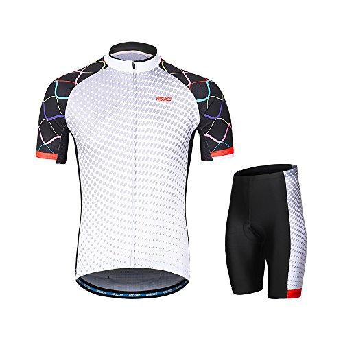 セールスマンタクト漏れLixada ARSUXEOメンズサイクリングウェアセット半袖セット速乾性シャツ3dクッションパッド入りショートパンツ