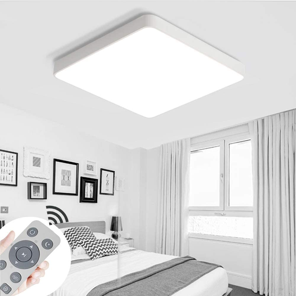 MIWOOHO 36W Regulable l/ámpara de techo led de sala de estar luz de cocina l/ámpara de techo panel de l/ámpara de techo habitaci/ón Bajo Consumo